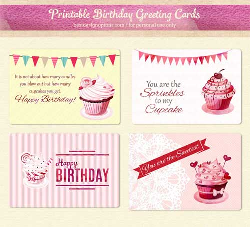 photo regarding Birthday Tag Printable identified as Printable Birthday Playing cards and Present Tags in direction of Down load Cost-free