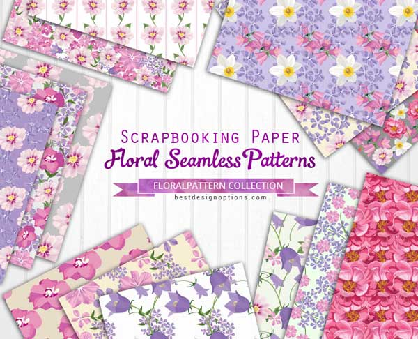 Floral Backgrounds 160 Free Digital Papers To Collect