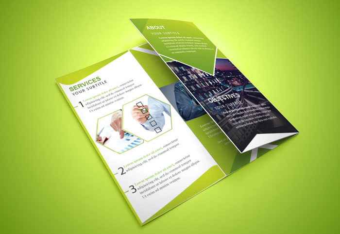 Trifold Brochure Template Free EasytoCustomize Designs - Foldable brochure template