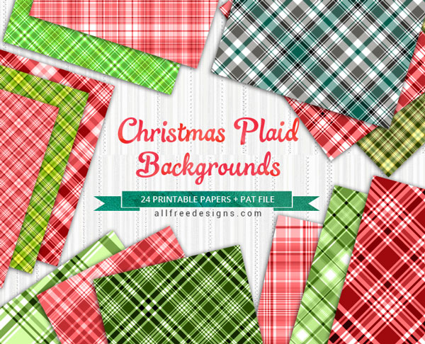 Christmas Gift Wrapper Design Printable.Christmas Plaid Patterns 24 Red And Green Patterns For