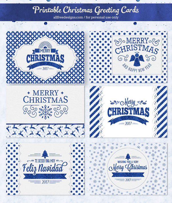 Printable christmas cards in sparkly blue to download free printable christmas cards m4hsunfo
