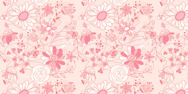 Pink flower background patterns 26 free romantic floral designs pink flower background mightylinksfo