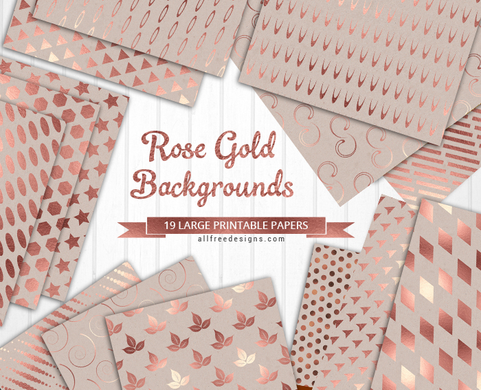 picture relating to Free Printable Backgrounds for Paper titled Rose Gold Record Textures: 19 Printable Papers inside JPEG