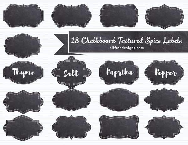 graphic relating to Printable Spice Labels identify Spice Labels: 18 Absolutely free Chalkboard Textured Programs towards Obtain