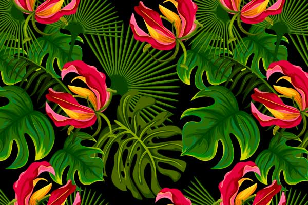 summer backgrounds 16 tropical inspired seamless patterns