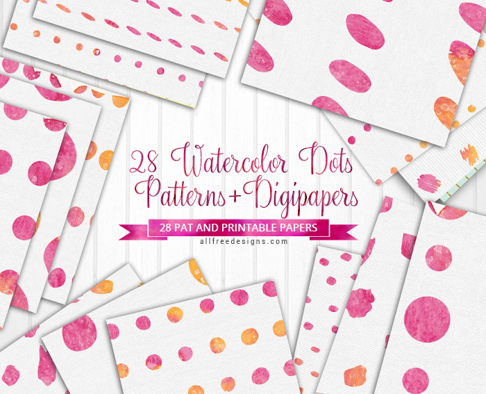 picture regarding Printable Paper Patterns named Crimson Polka Dots Types and Printable Papers Wth Watercolor