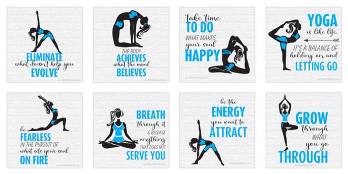 Bewitching image throughout printable yoga cards