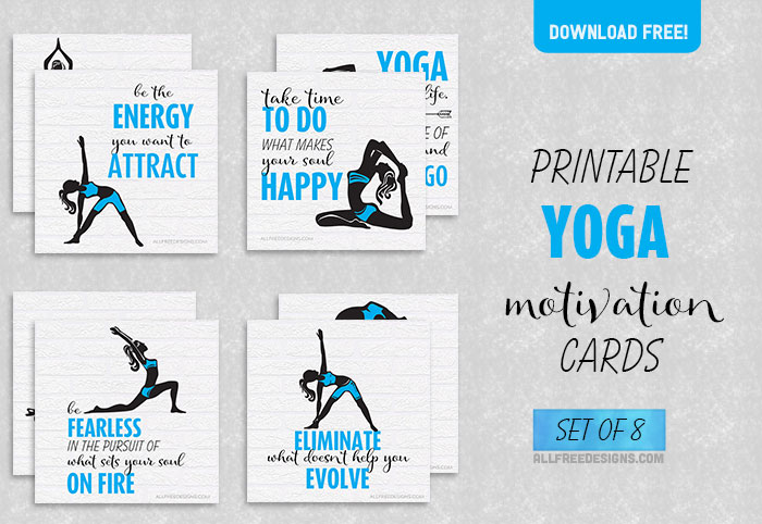 photo regarding Printable Yoga Cards titled Yoga Commitment Playing cards: 8 Inspiring Styles towards Aid On your own Live
