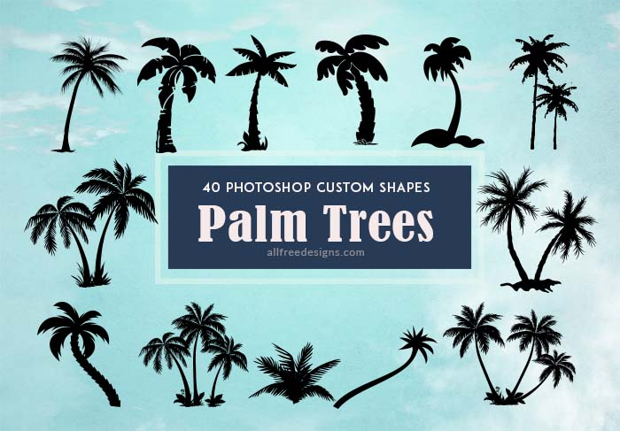 Palm Tree Shapes 40 Various Silhouettes For Tropical Themed