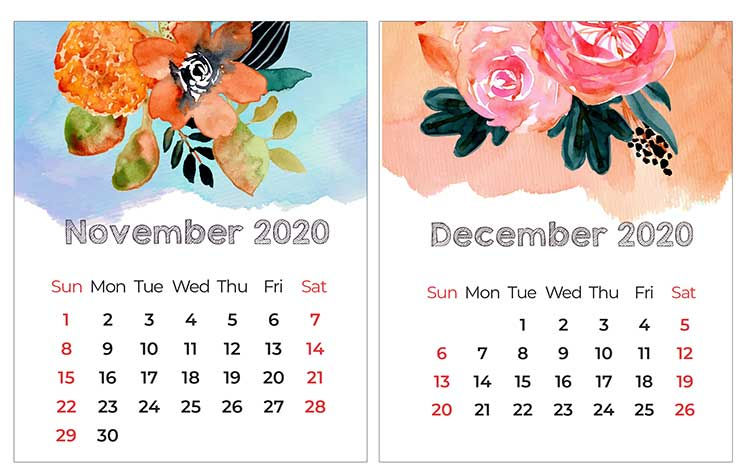Printable Mini Calendar For 2020 Free To Download And Print