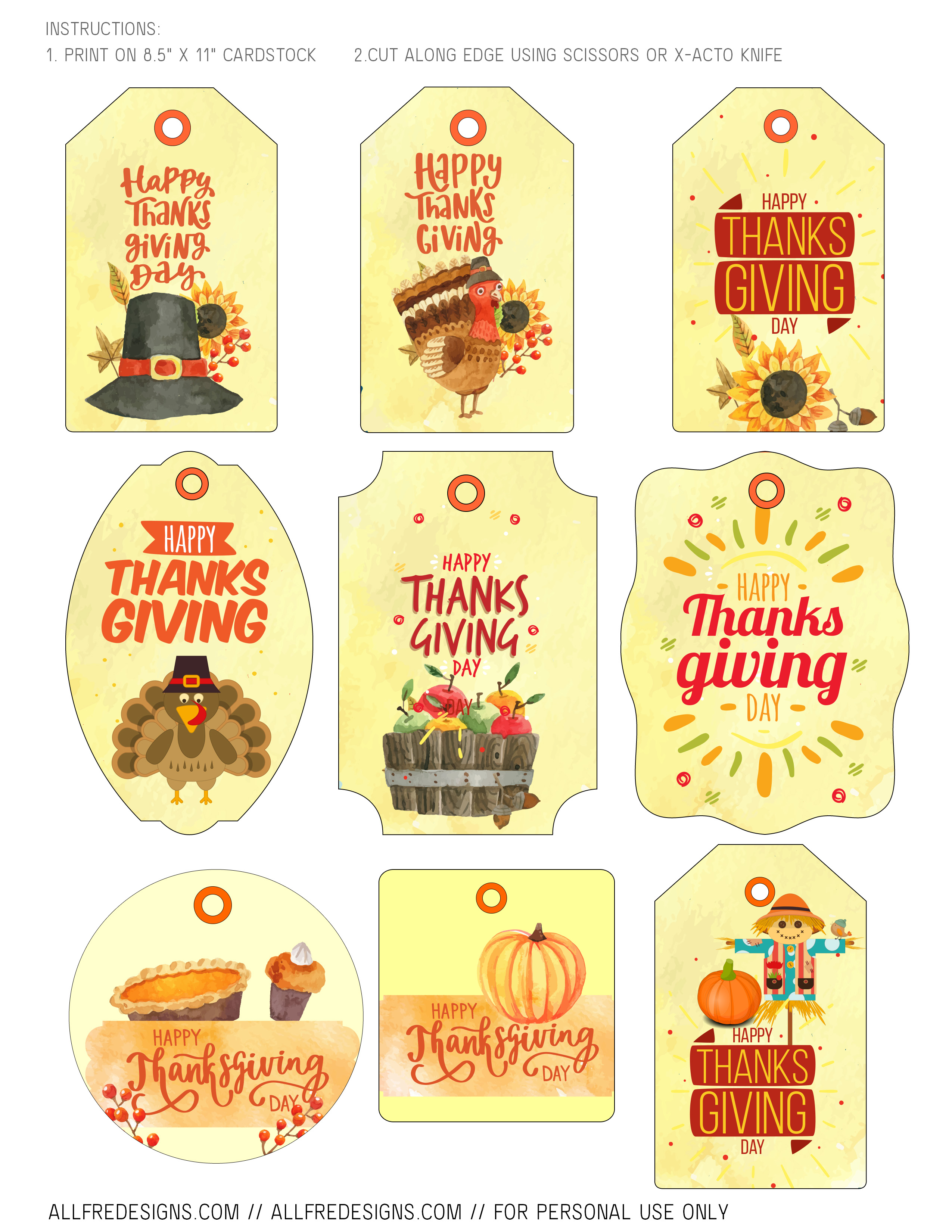 image about Free Printable Thanksgiving Tags known as Printable Thanksgiving Reward Tags: 9 Patterns toward Obtain Free of charge